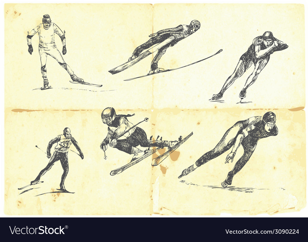 A large collection of winter sports vector | Price: 1 Credit (USD $1)