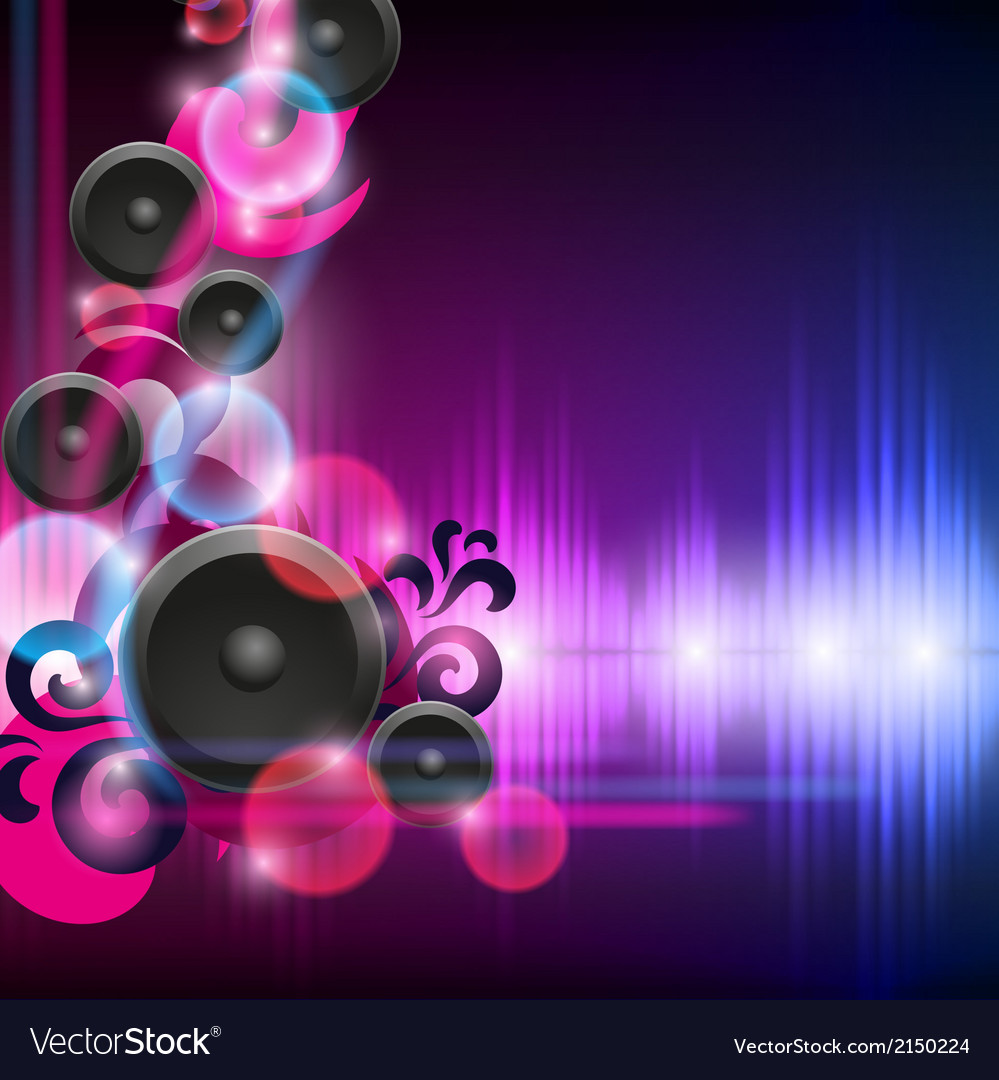 Abstract equalizer background with speakers vector | Price: 1 Credit (USD $1)