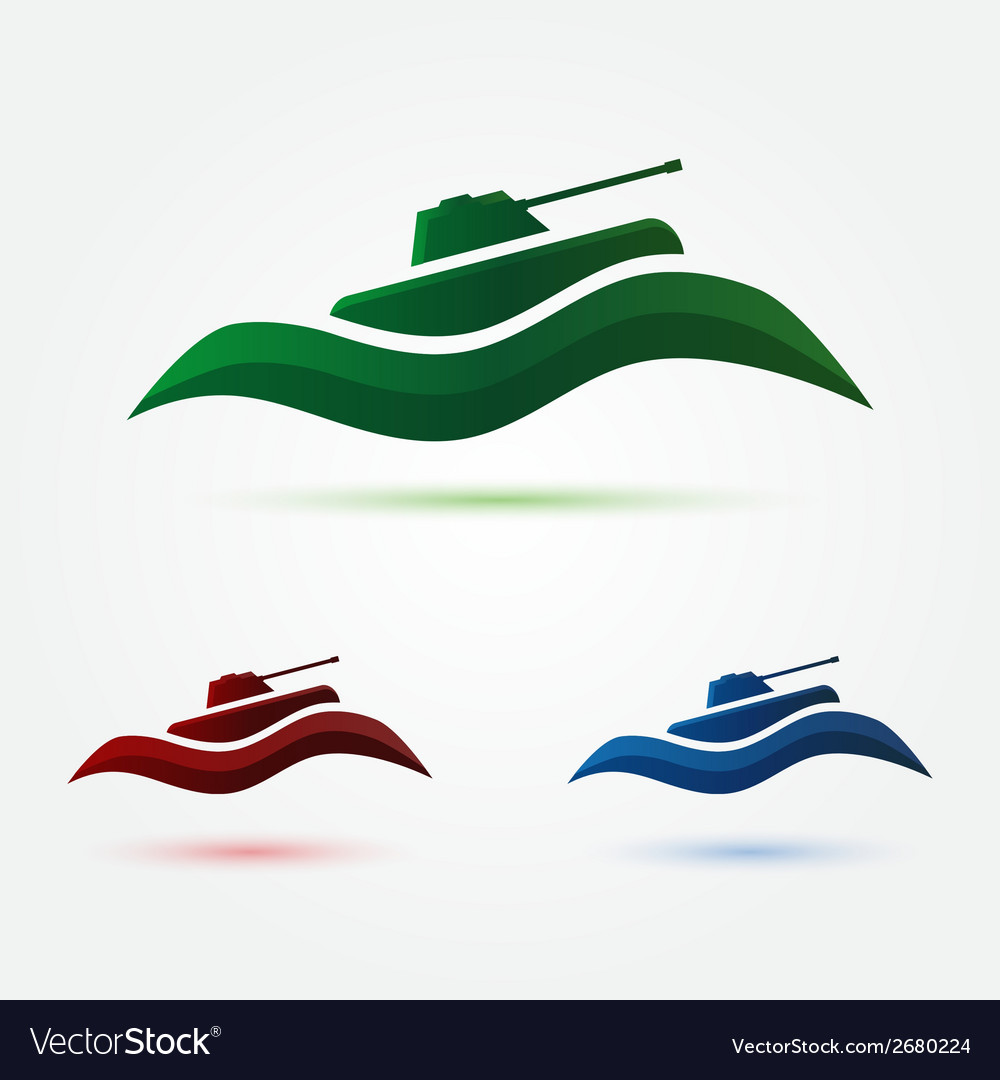 Army or military abstract tank icon vector | Price: 1 Credit (USD $1)