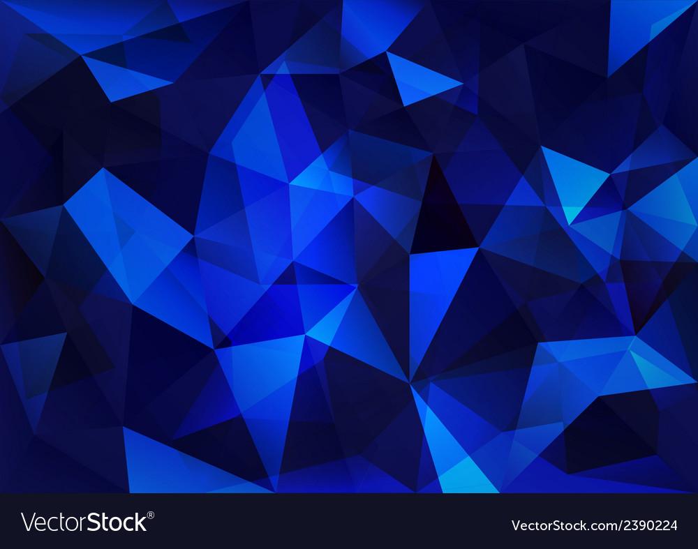 Blue triangle vector | Price: 1 Credit (USD $1)