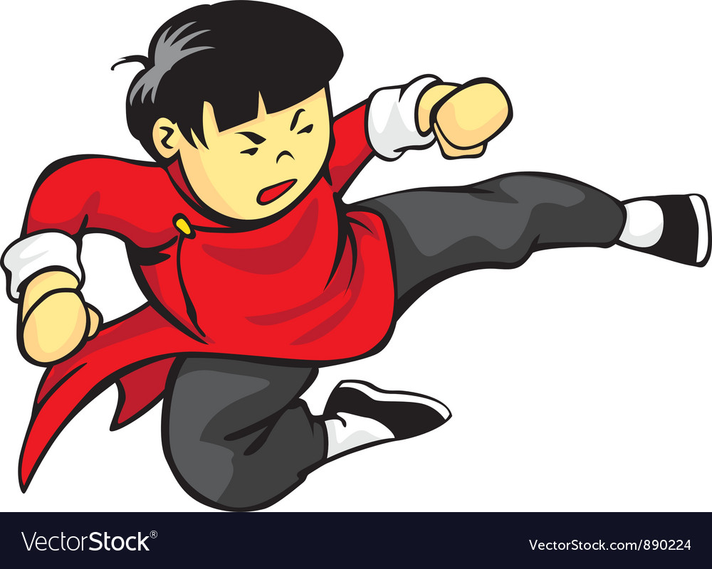Flying kick vector | Price: 1 Credit (USD $1)