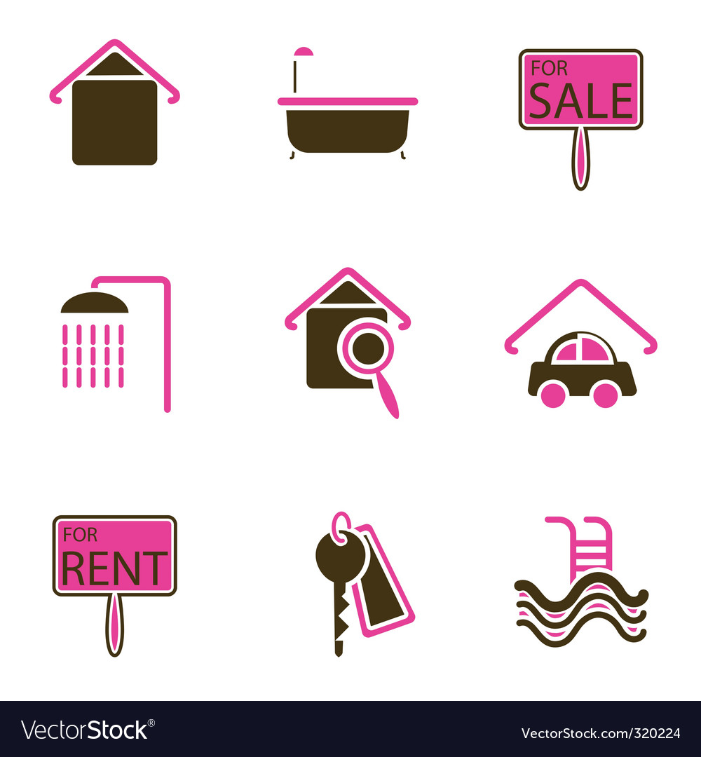 House objects icons vector | Price: 1 Credit (USD $1)