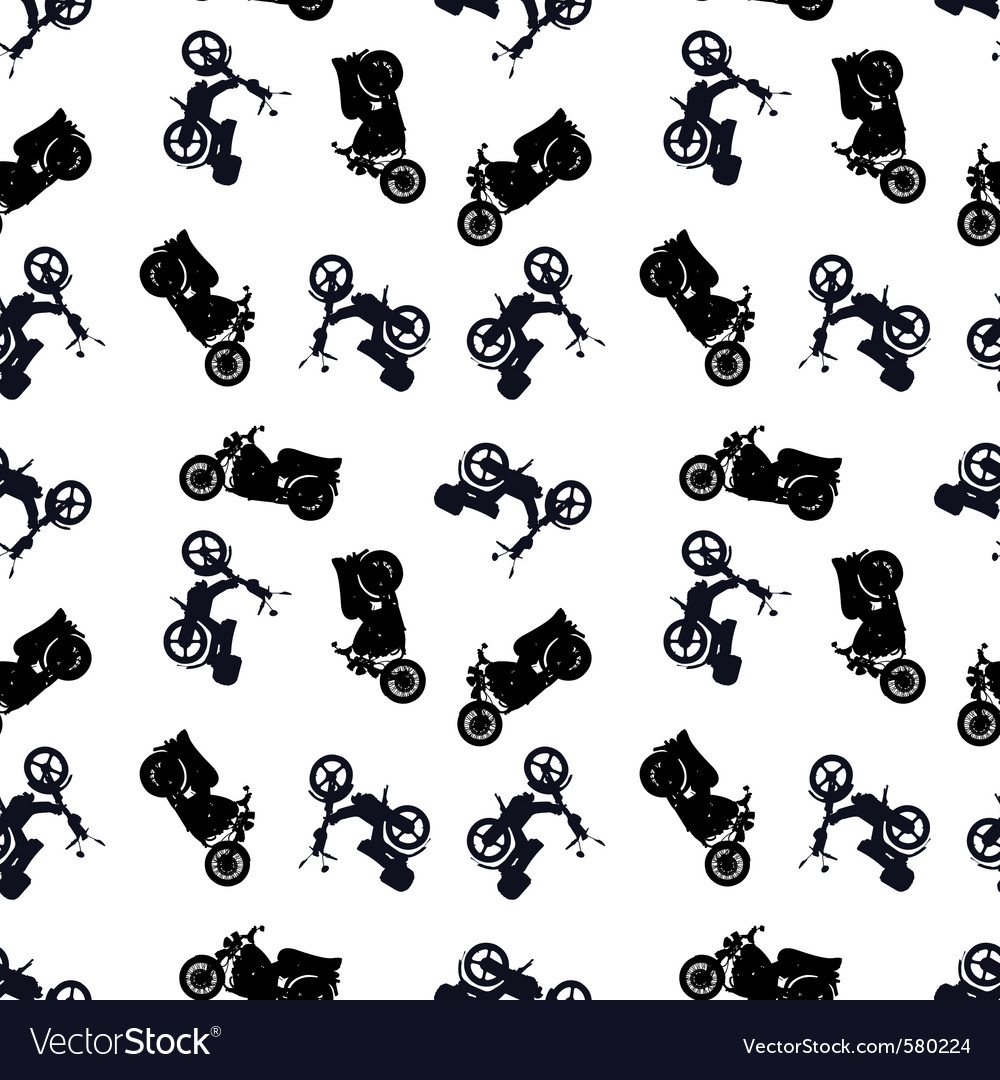 Motorcycle pattern vector | Price: 1 Credit (USD $1)