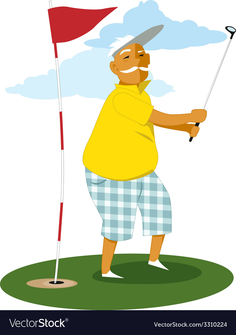 Senior golfer vector | Price: 1 Credit (USD $1)