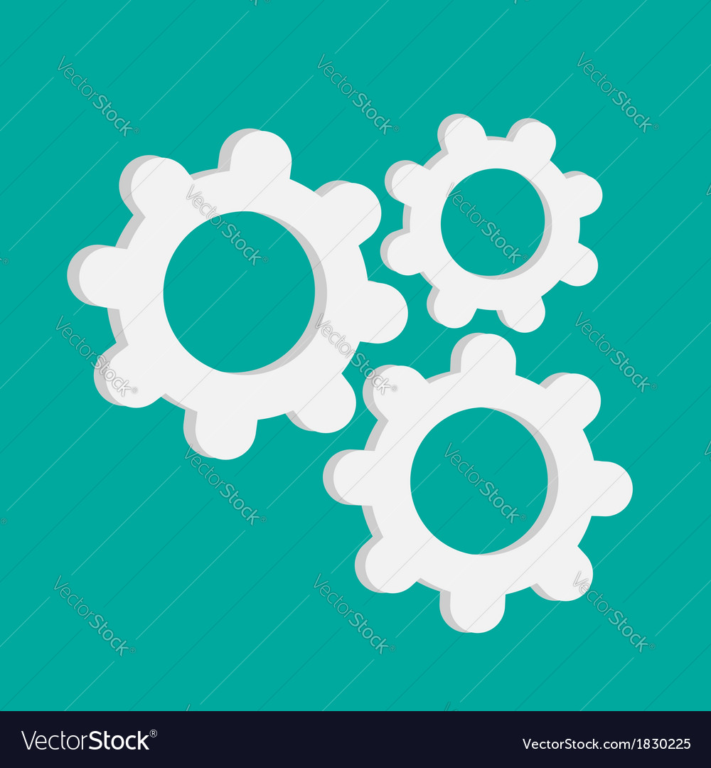 Abstract gear and cog wheels template flat design vector | Price: 1 Credit (USD $1)