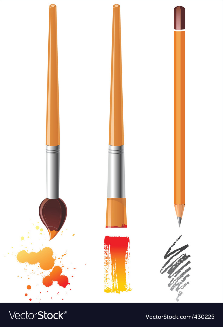 Art tools vector | Price: 1 Credit (USD $1)