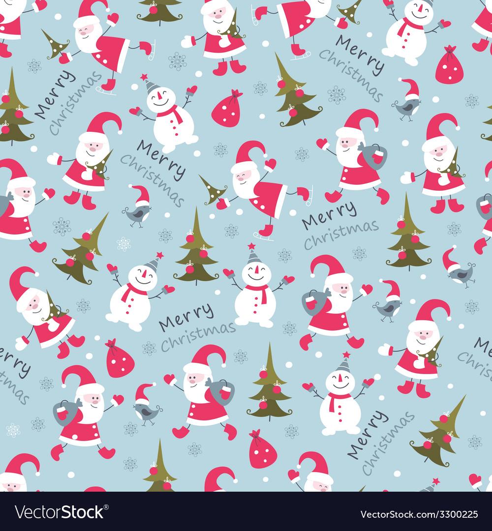 Christmas seamless 2 vector | Price: 1 Credit (USD $1)