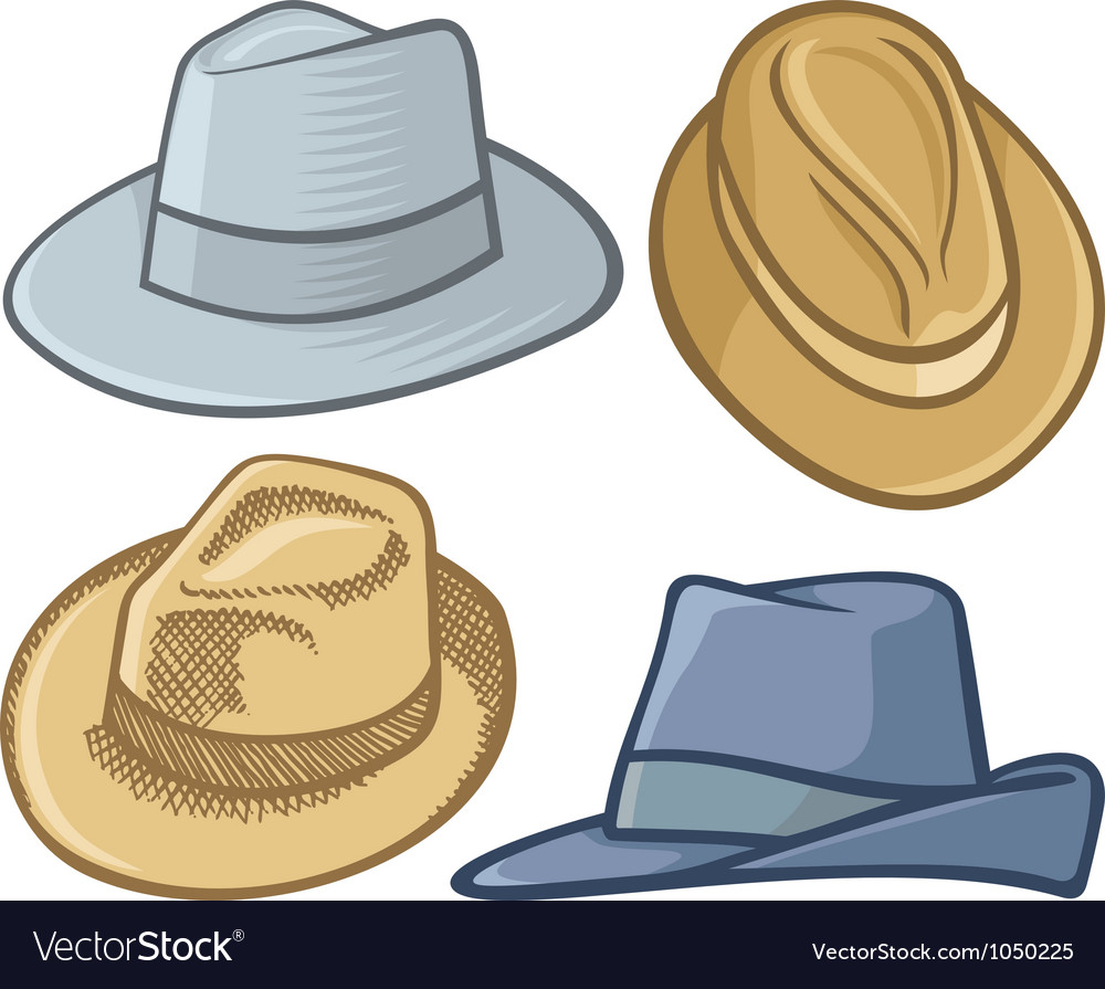 Fedora hats vector | Price: 1 Credit (USD $1)