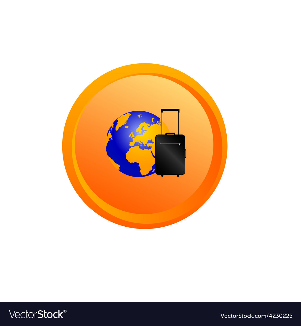 Planet travel button vector | Price: 1 Credit (USD $1)