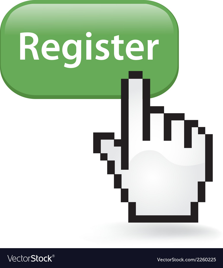 Register button click vector | Price: 1 Credit (USD $1)