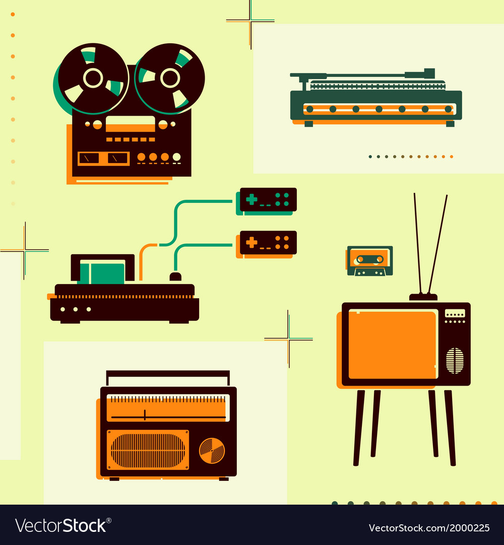 Retro technology vector | Price: 1 Credit (USD $1)