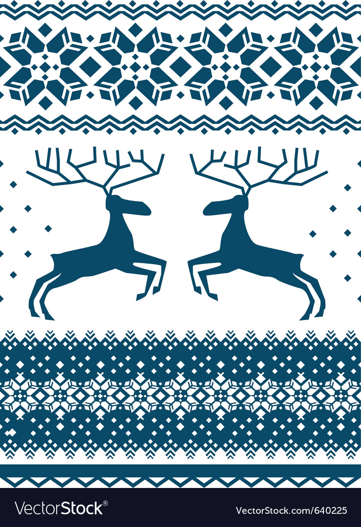 Scandinavian pattern vector | Price: 1 Credit (USD $1)