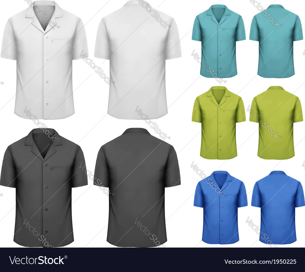 Set of white and black and colorful work clothes vector | Price: 1 Credit (USD $1)