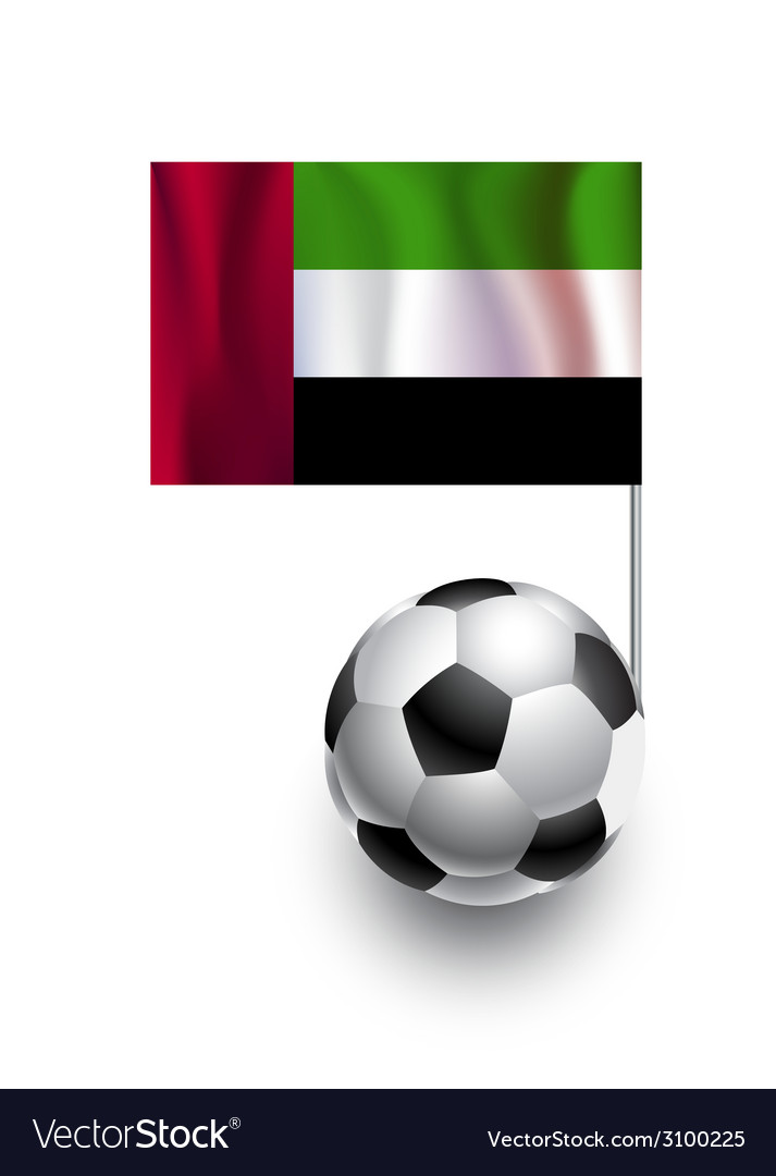 Soccer balls with flag of united arab emirates vector | Price: 1 Credit (USD $1)