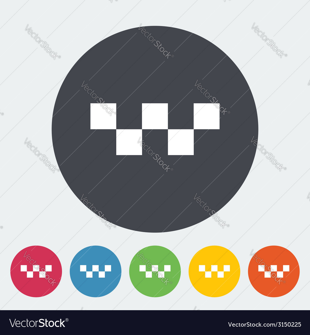 Taxi single icon vector | Price: 1 Credit (USD $1)