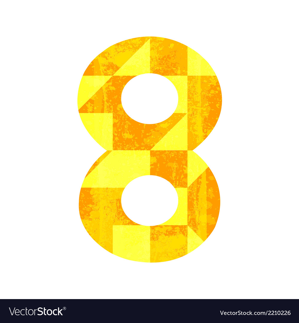 Abstract color number eight vector | Price: 1 Credit (USD $1)