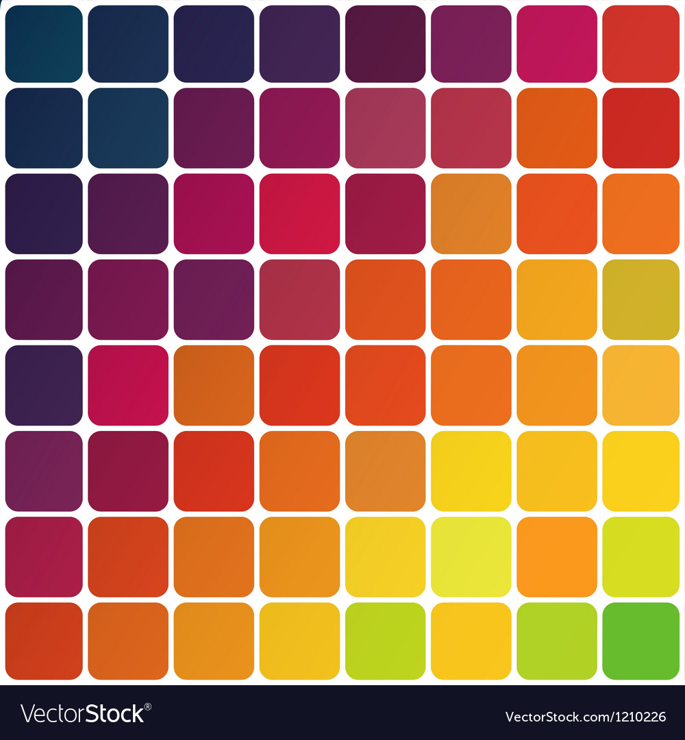 Abstract colorful rounded squares vector | Price: 1 Credit (USD $1)
