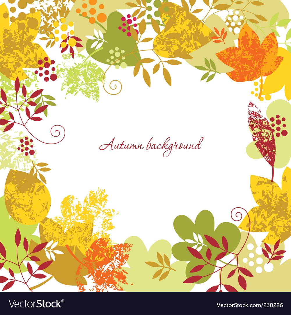 Autumn background vector | Price:  Credit (USD $)