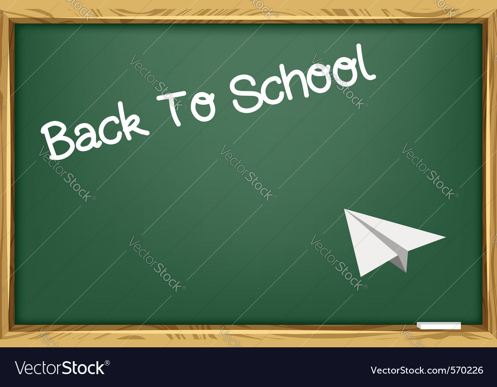 Blackboard and paper plane vector | Price: 1 Credit (USD $1)