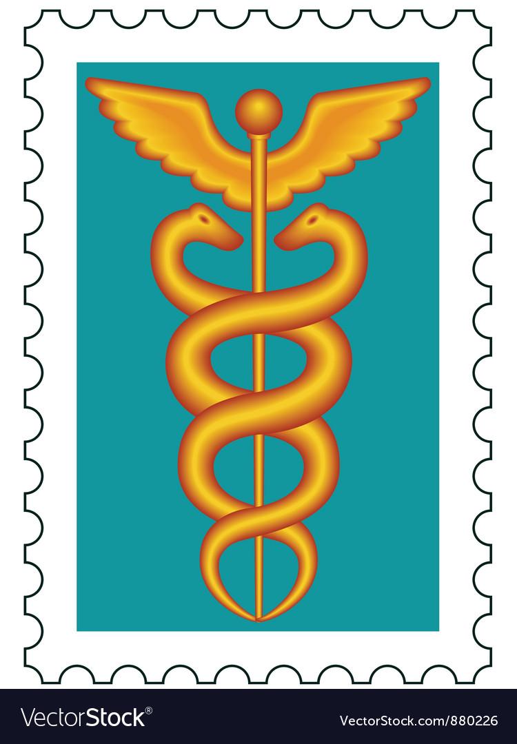 Caduceus stamp vector | Price: 1 Credit (USD $1)