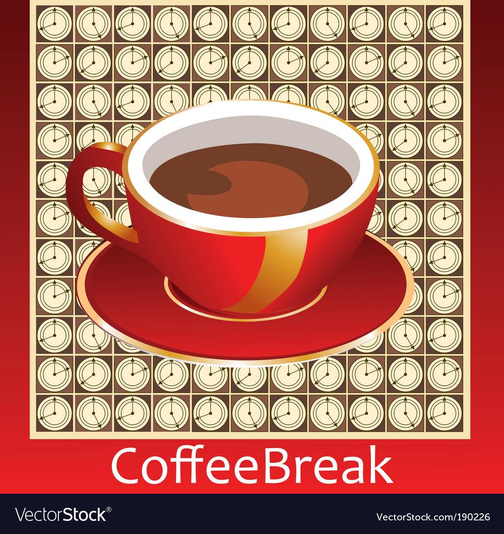 Coffee break vector | Price: 1 Credit (USD $1)