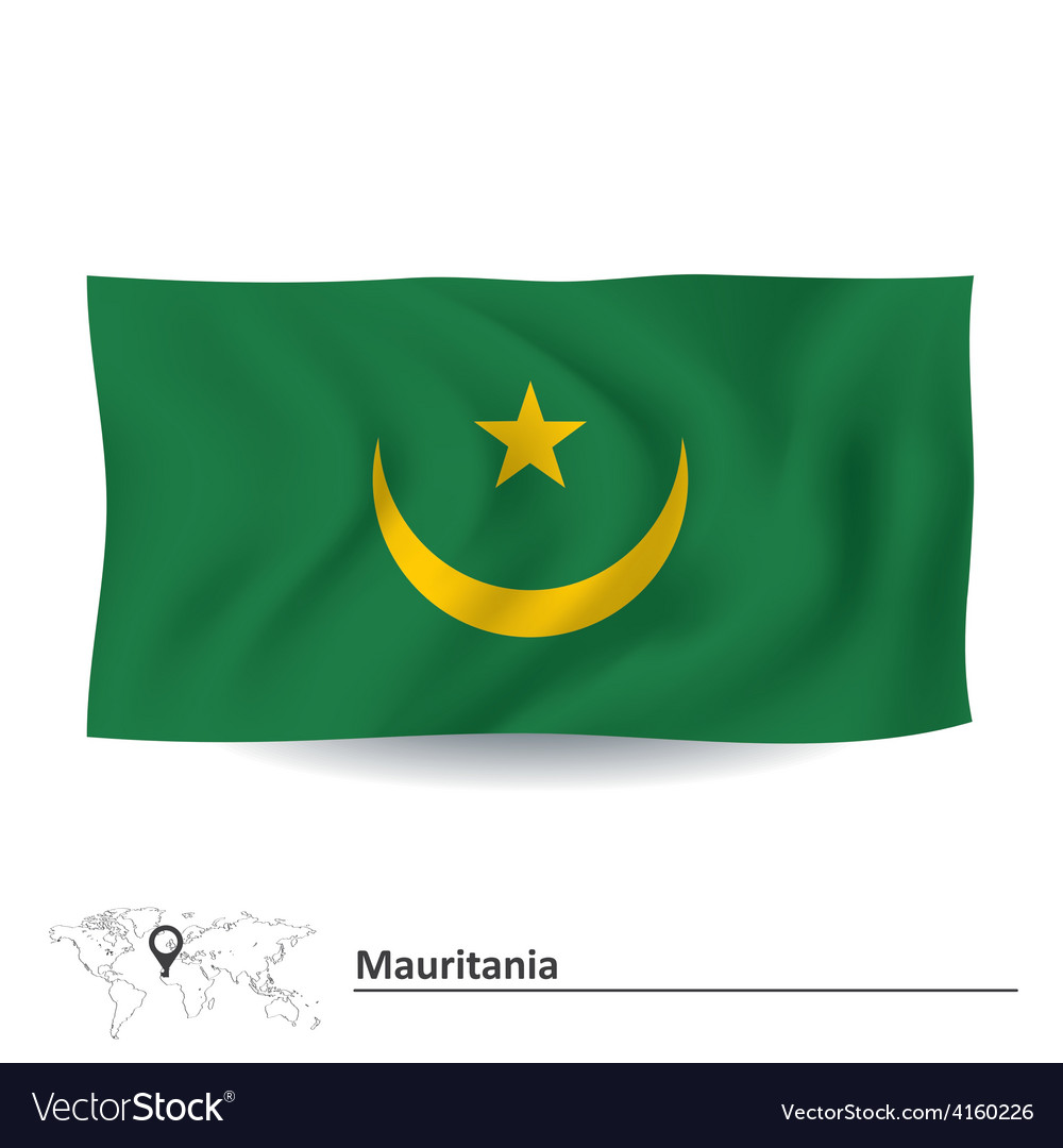 Flag of mauritania vector | Price: 1 Credit (USD $1)