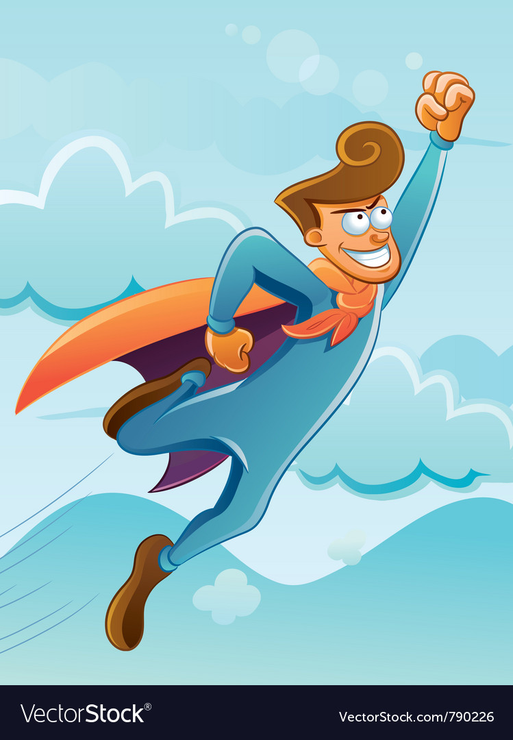 Flying super hero vector | Price: 3 Credit (USD $3)
