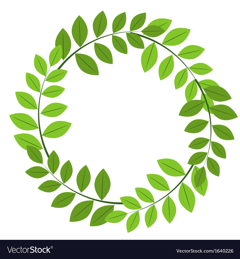 Foliage frame vector | Price: 1 Credit (USD $1)