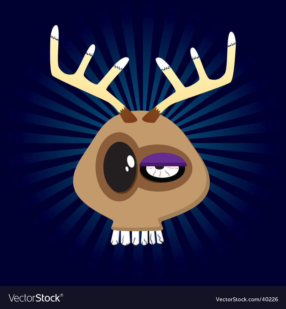 Happy reindeer vector | Price: 1 Credit (USD $1)