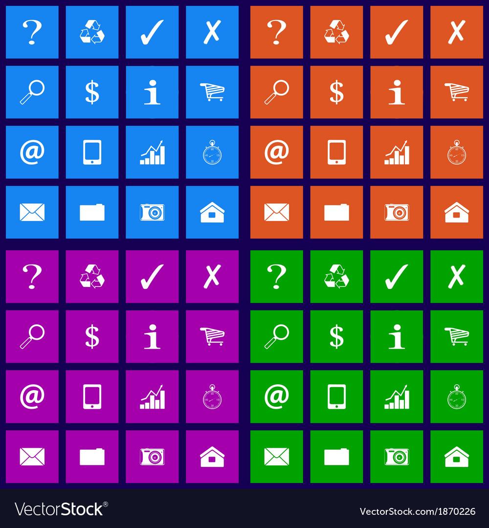 Popular icons set vector | Price: 1 Credit (USD $1)