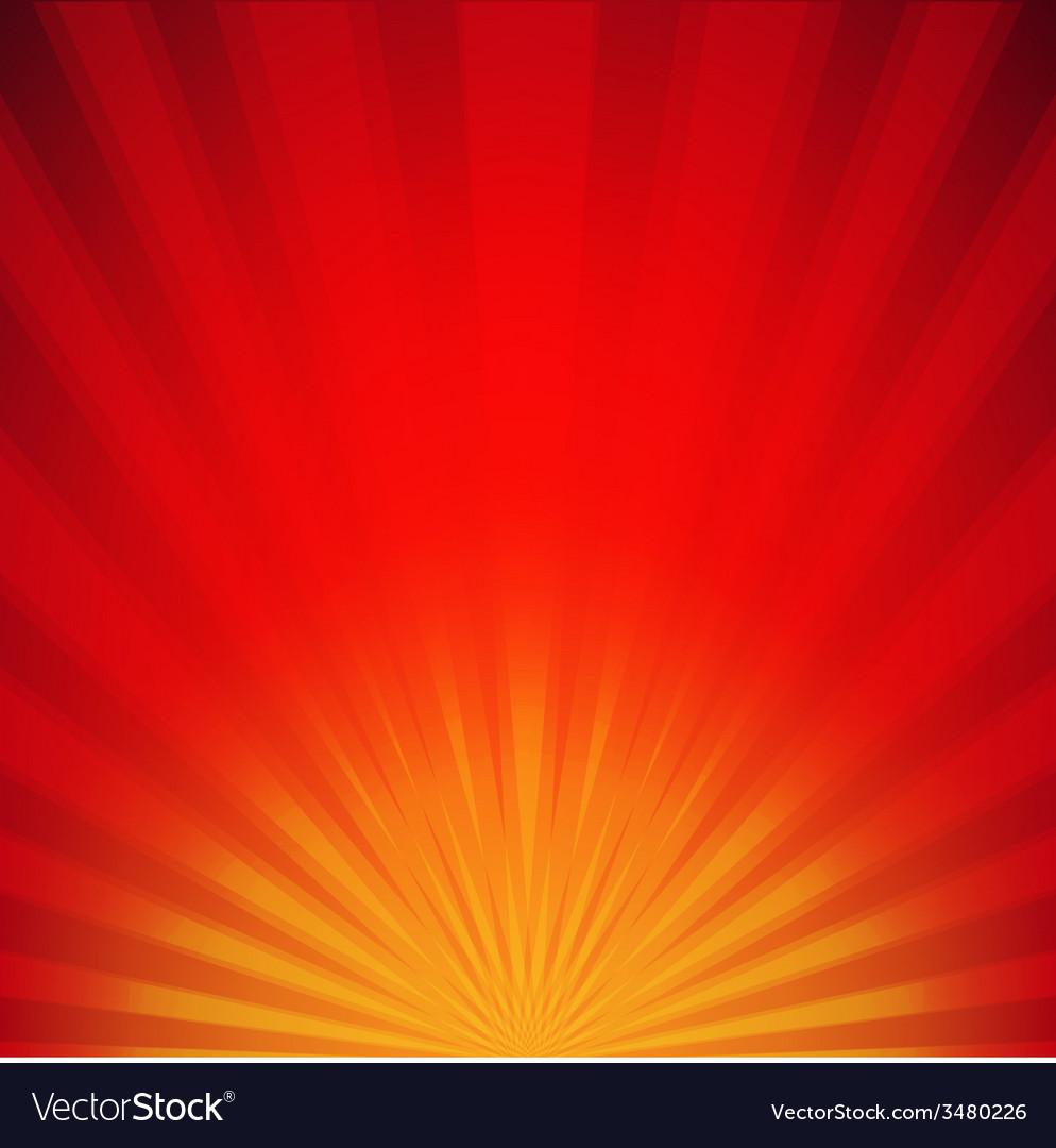Red sunburst poster vector | Price: 1 Credit (USD $1)