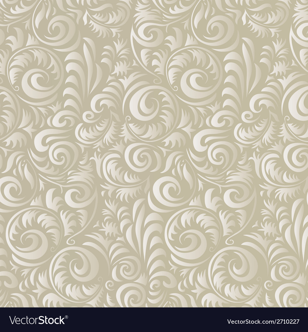 Art retro design flowers vintage pattern abstract vector | Price: 1 Credit (USD $1)