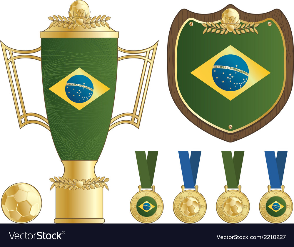 Brazil football ornaments vector | Price: 1 Credit (USD $1)