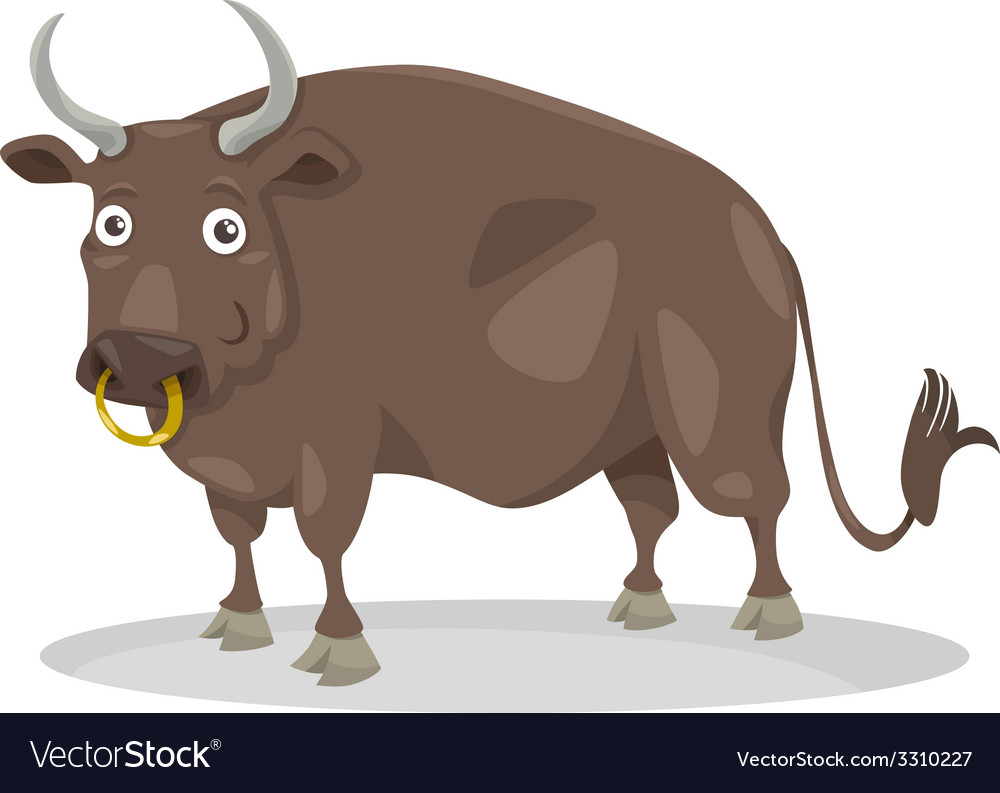 Bull farm animal cartoon vector | Price: 1 Credit (USD $1)