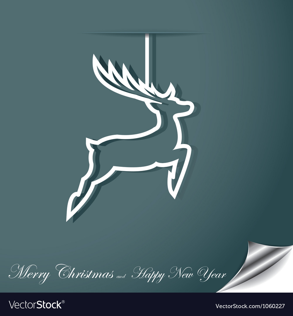 Christmas background with reindeer vector | Price: 1 Credit (USD $1)