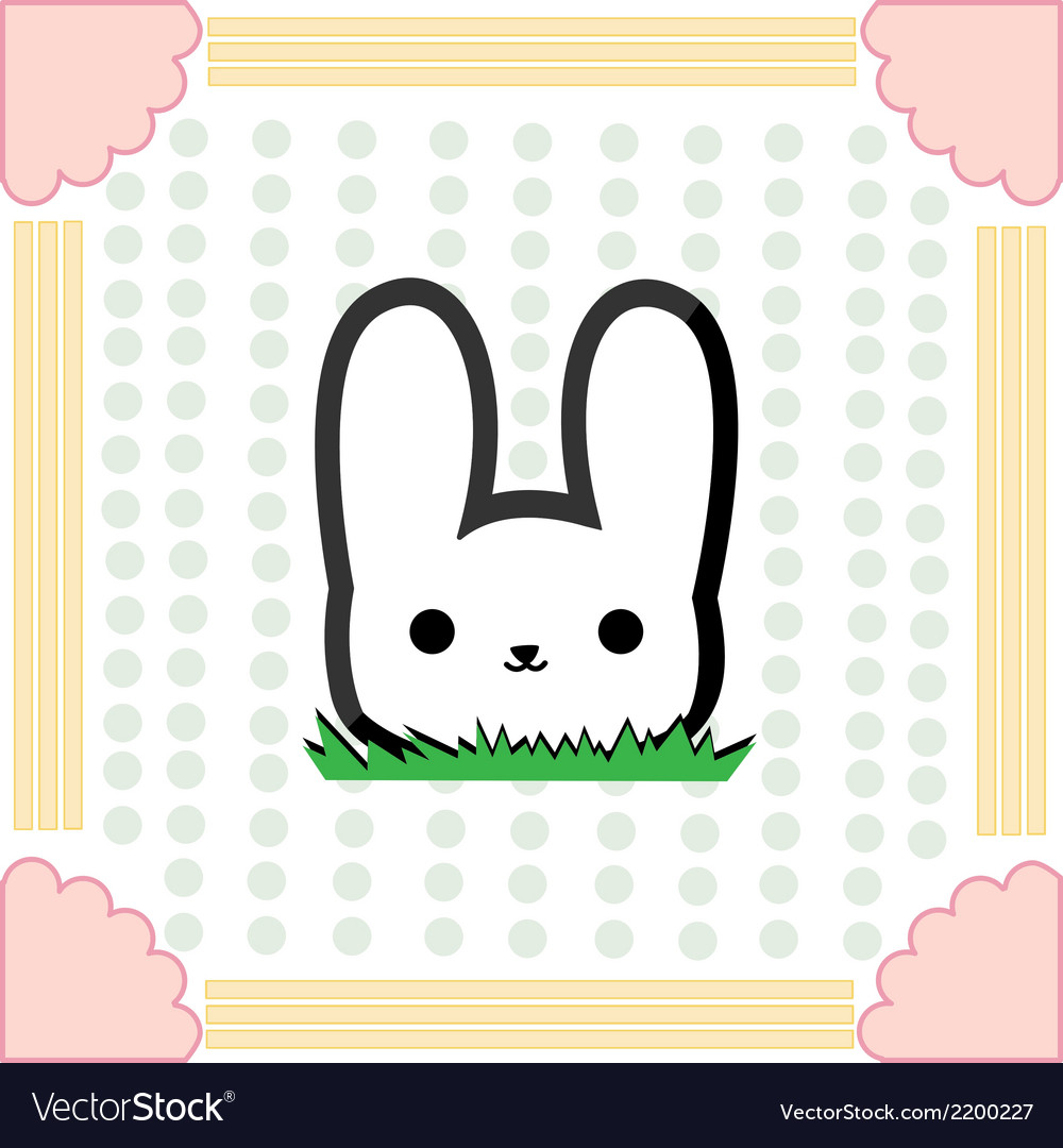 Cute little rabbit vector | Price: 1 Credit (USD $1)