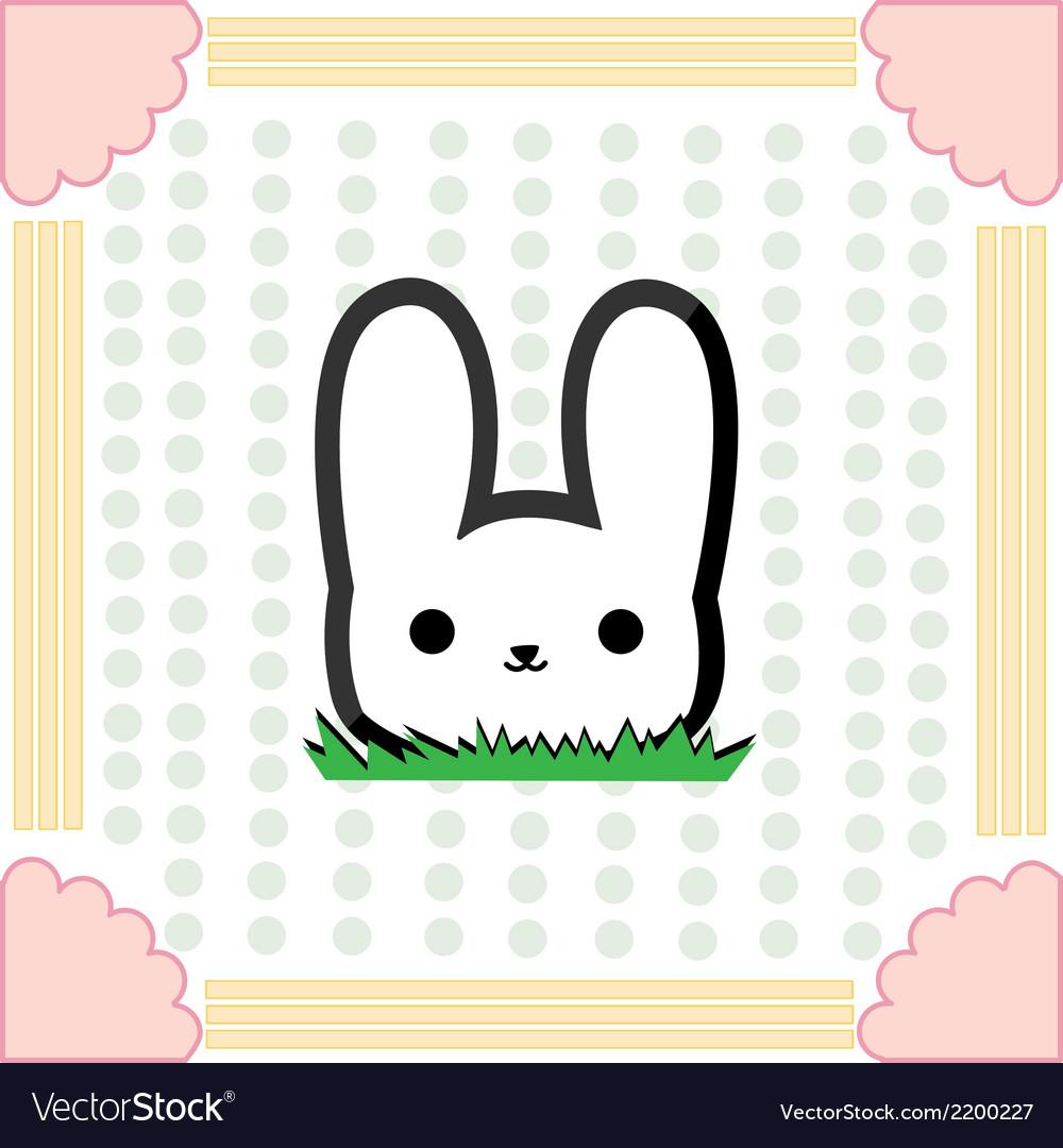 Cute little rabbit vector | Price: 1 Credit (USD $1)