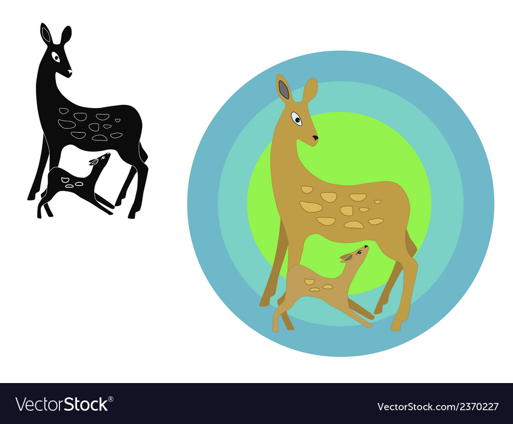 Deer emblem vector | Price: 1 Credit (USD $1)