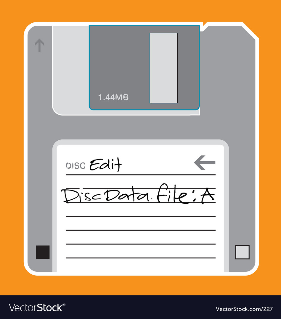 Floppy disc illustration vector | Price: 1 Credit (USD $1)