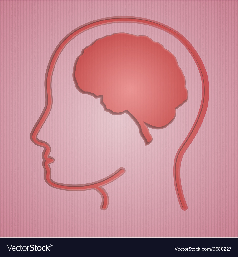 Human brain in head vector | Price: 1 Credit (USD $1)