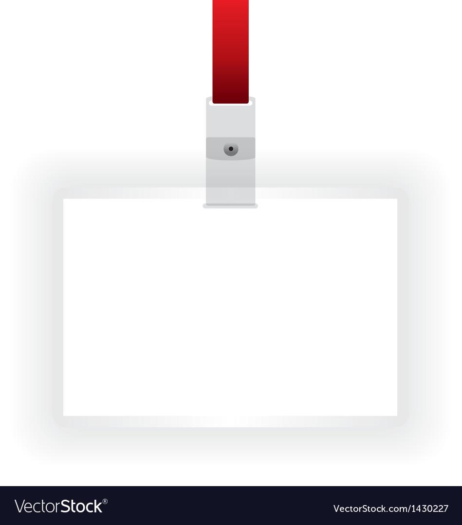Identification card blank vector | Price: 1 Credit (USD $1)