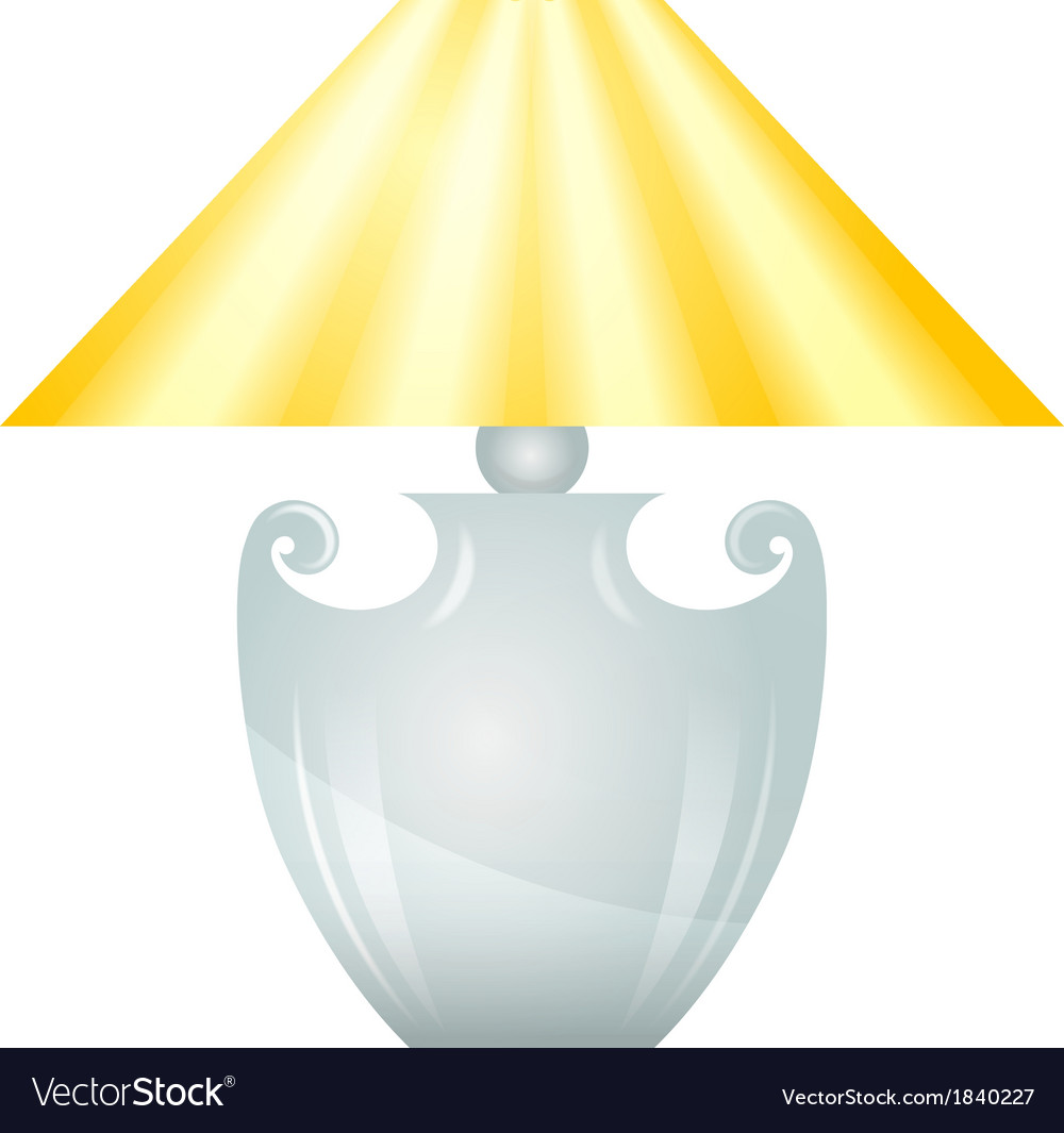 Lamp with yellow lampshade vector | Price: 1 Credit (USD $1)