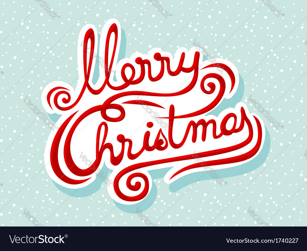Merry christmas lettering vector | Price: 1 Credit (USD $1)