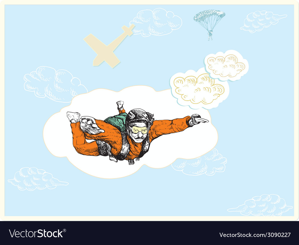 Parachutist vector | Price: 1 Credit (USD $1)