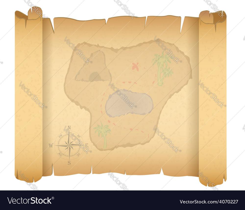 Pirate treasure map 01 vector | Price: 1 Credit (USD $1)