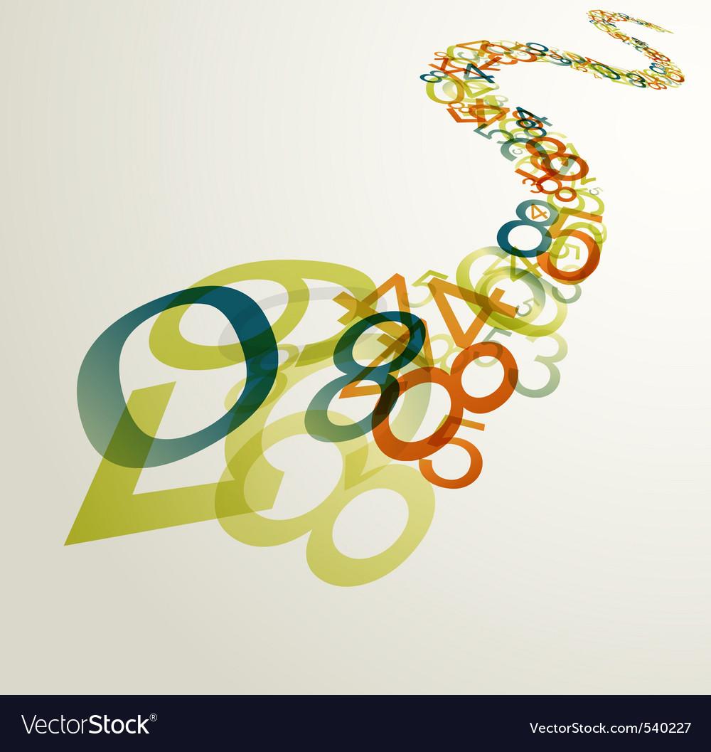 Rainbow numbers vector | Price: 1 Credit (USD $1)