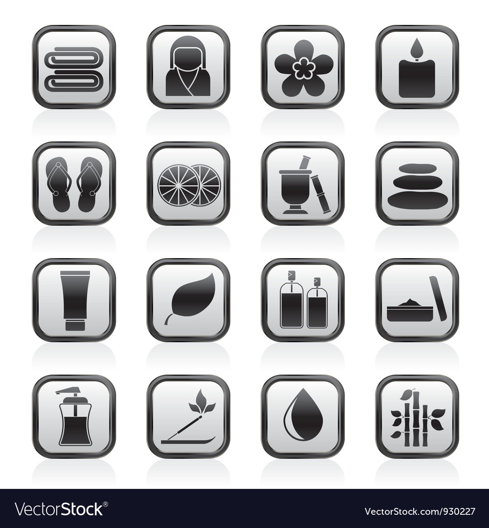 Spa objects icons vector | Price: 1 Credit (USD $1)