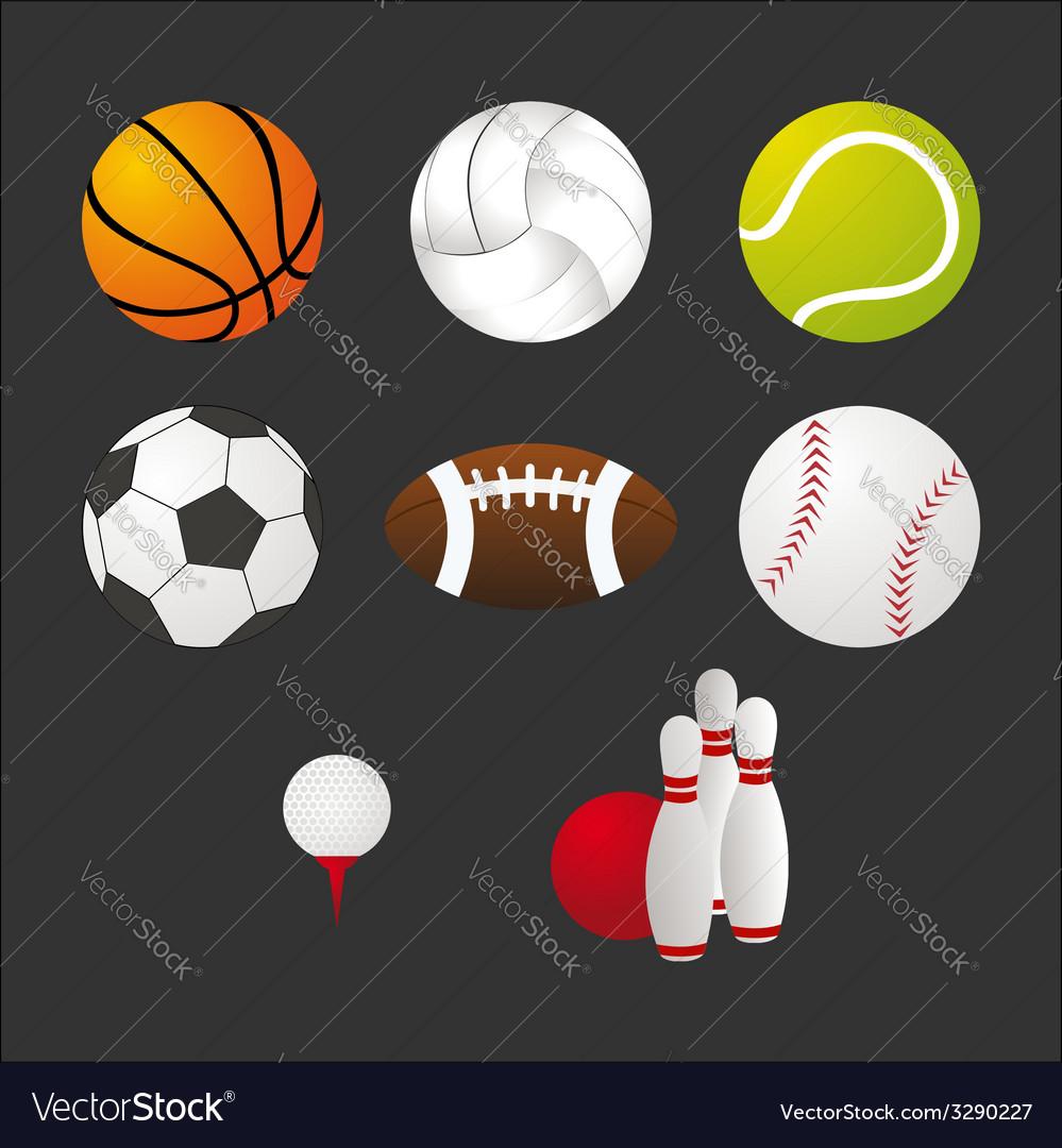 Sport equipment icons set vector | Price: 1 Credit (USD $1)