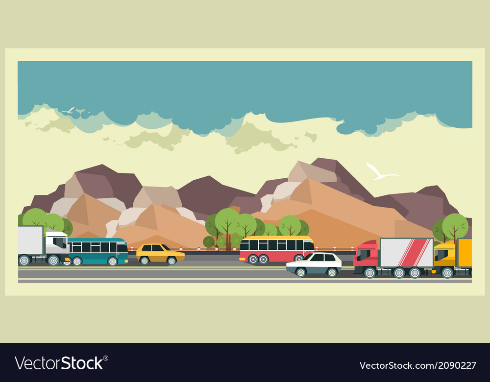 Transportation background vector | Price: 1 Credit (USD $1)