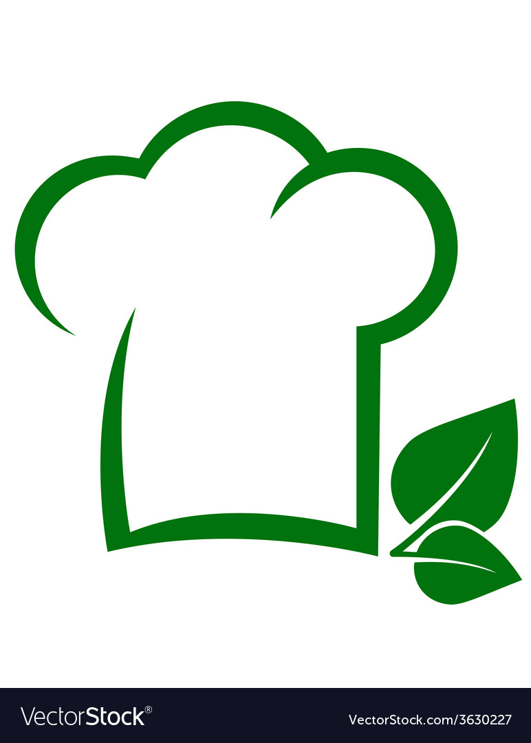 Vegetarian icon with chef hat vector | Price: 1 Credit (USD $1)